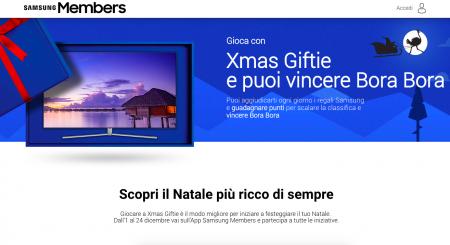 Xmas Giftie – scopri i premi di Natale dell'app Samsung Members