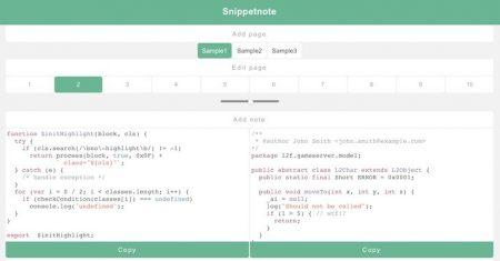 Snippetnote: utility gratuita per copiare e incollare frammenti di testo e codice