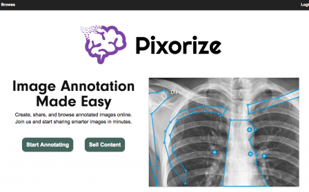 Con Pixorize si possono creare annotazioni interattive sulle immagini