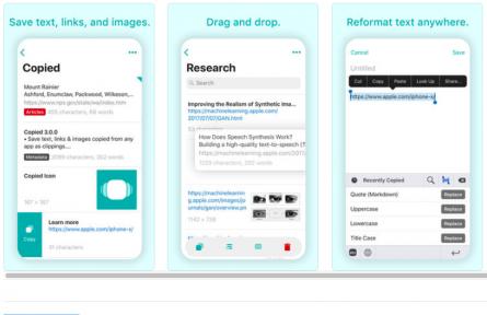Copied: app gratuita per la gestione degli appunti su iOS