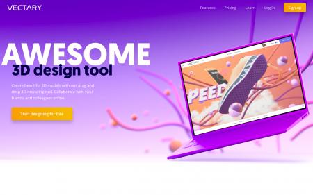 Vectary: piattaforma online per la progettazione 3D