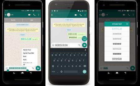 Stylish Text: un'app Android per personalizzare le scritte su Whatsapp