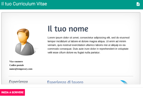 Curriculum Vitae App Creazione Facile Di Un Cv Anche Direttamente