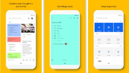 Con l'applicazione Google Keep si impostano i lavori con appunti sullo smartphone