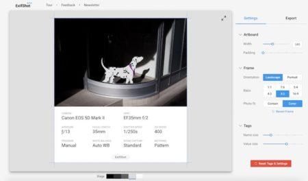 """ExifShot: condivisione """"elegante"""" dei metadati delle foto"""