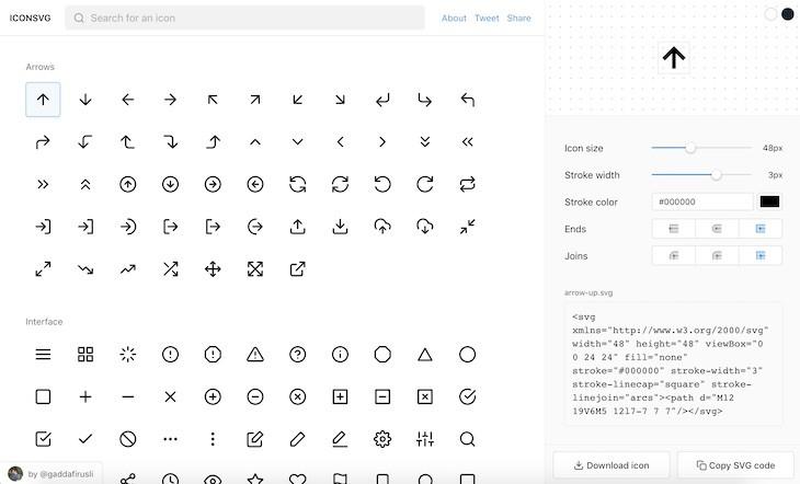 ICONSVG: personalizzare e scaricare icone SVG per i propri progetti
