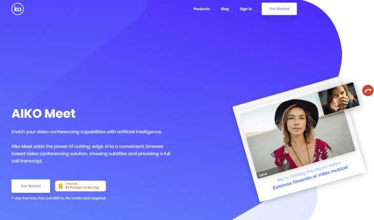 AIKO Meet: videoconferenze con sottotitoli e trascrizioni in tempo reale