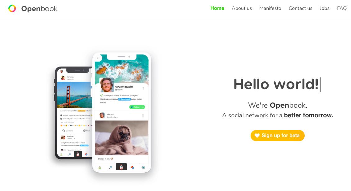 Openbook: il social network alternativo a Facebook privo di pubblicità