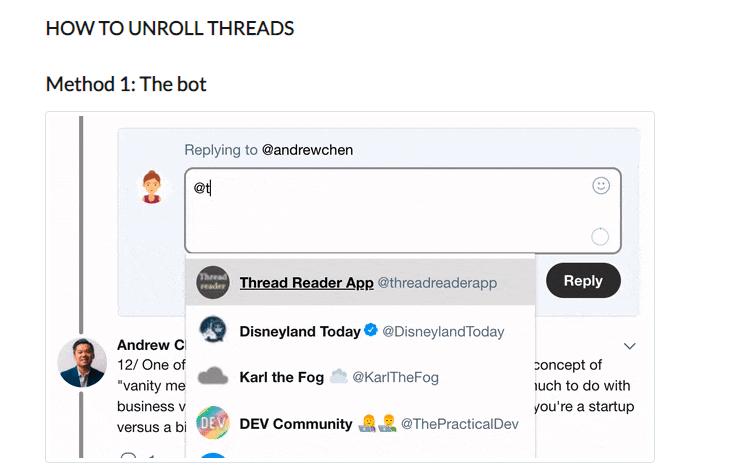 Thread Reader: app gratis per raccogliere i thread di Twitter in pagine leggibili