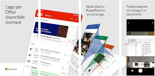 Il nuovo Microsoft Office per Android riunisce Word, Excel e Powerpoint in una sola app