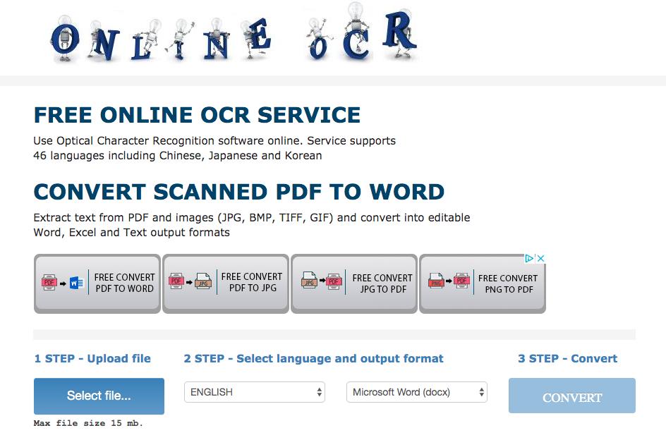 Online OCR: strumento web-based per passare da immagine a testo (sempre gratis)