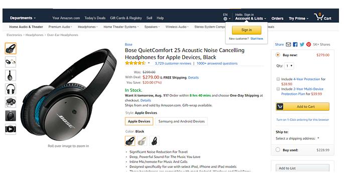 scheda prodotto Amazon
