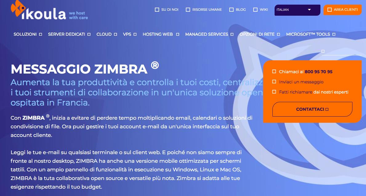Zimbra Mail: client di posta elettronica efficiente, scalabile e open source