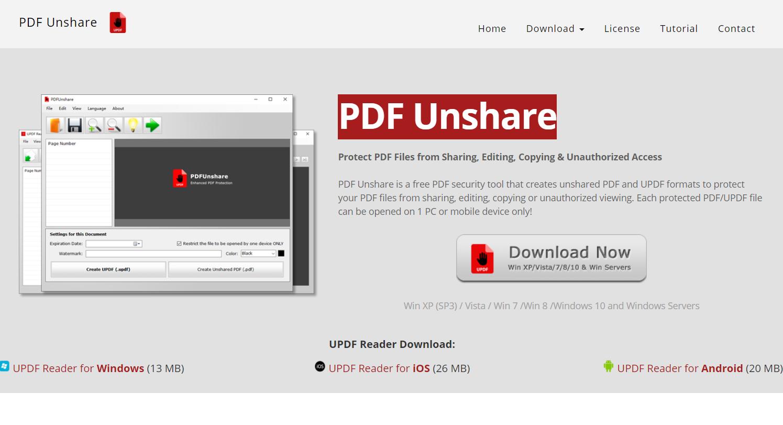 PDF Unshare: creazione di PDF non condivisibili né stampabili