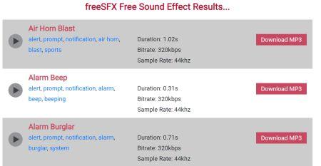 Free SFX: piattaforma per scaricare effetti sonori gratuiti