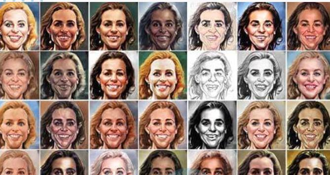 Con Caricaturer puoi generare gratis decine di caricature diverse partendo da una foto